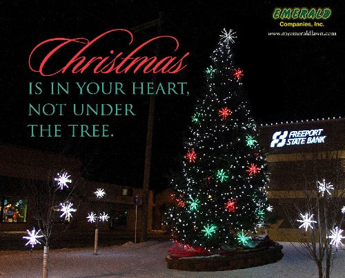 Emerald Companies can prepare a customized Christmas lights display for your home